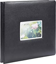 Old Town Bonded Leather Scrapbook 12x12 (Pebbled Black, Album)