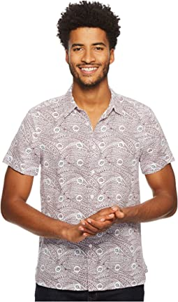 Perry Ellis - Short Sleeve Condensed Paisley Linen Shirt