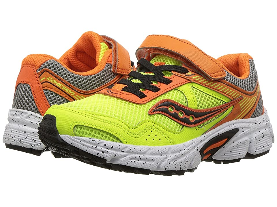 Saucony Kids Cohesion 10 A/C (Little Kid) (Orange/Citron) Boys Shoes