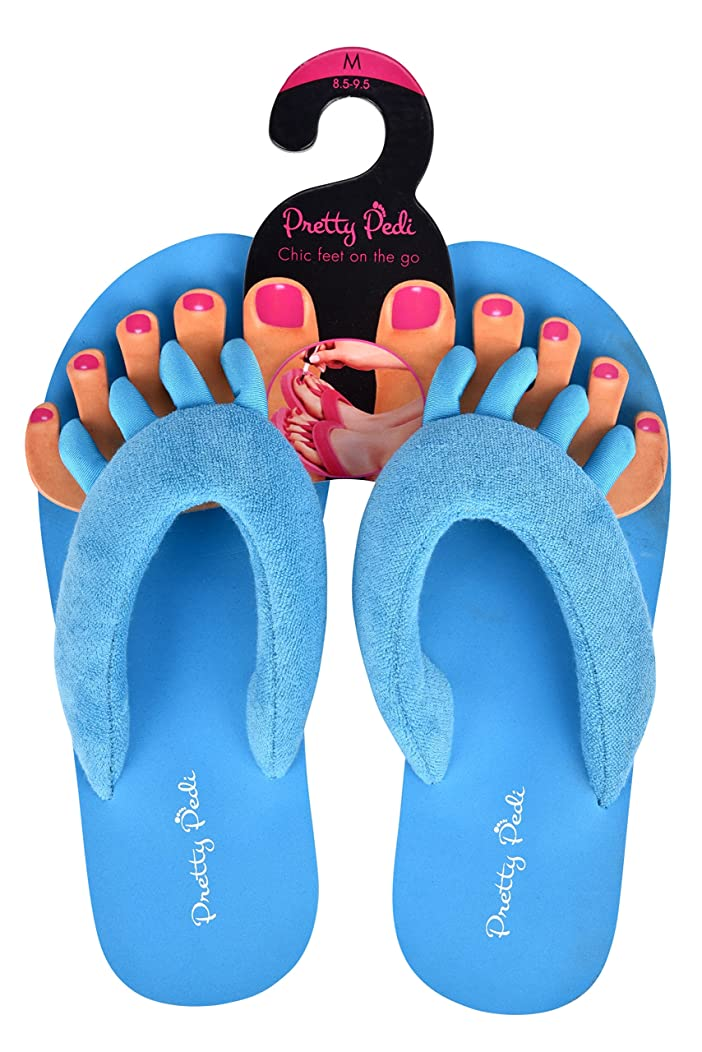 Super Light Pretty Pedi Brand Pedicure Sandals For Women With Toe Separator (Multiple Colors and Sizing Available)