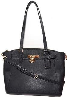 Hamilton Traveler Large Satchel Saffiano Leather Black