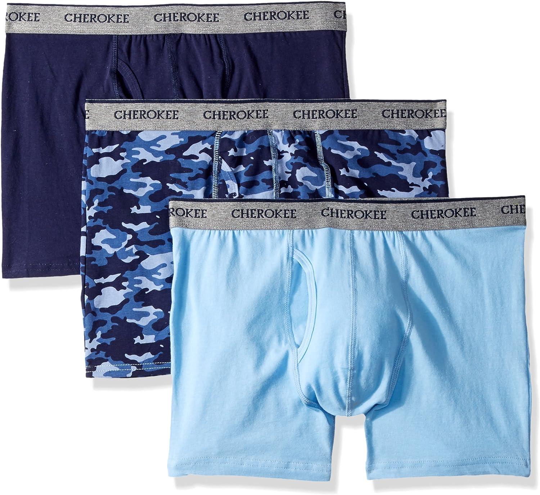 Cherokee Men's Men's Cotton Stretch Boxer Briefs 3 Pack Underwear