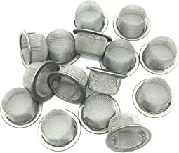 Everydlife Crystal Pipe Screens,15pcs 1/2 inch Diameter Crystal Tobacco Pipes Stainless Steel Mental Filter for Crystal Smoking Pipe