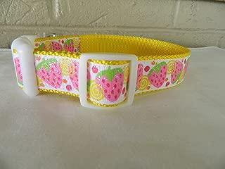 Schmoopsie Couture Juicy Strawberry Sparkle Dog Collar