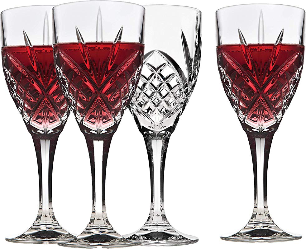 Italian Crystal Wine Glasses Set Of 4 9 Ounce Wine Goblets Cordial Glasses Perfect For Any Occasion Great Gift Premium Quality Red Wine Glass Set