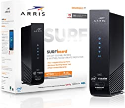 ARRIS SURFboard (16x4) DOCSIS 3.0 Cable Modem Plus AC1900 Dual Band Wi-Fi Router, 686 Mbps Max Speed, Certified for Comcast Xfinity, Spectrum, Cox & more (SBG6950AC2) (Renewed)
