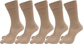RC. ROYAL CLASS Women's Cotton Calf Length Solid Thumb Socks (Skin Tone) - Pack of 5 Pairs