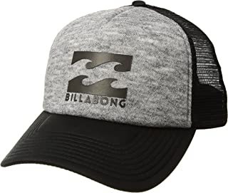 Classic Trucker Hat, Men's, Black/White/ and Grey Heather, Branded Screenprinted Logo Front Bill, ONE