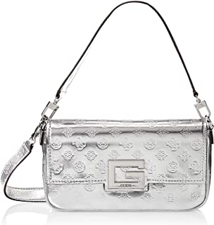 Guess Crossbody Bag For Women, Silver - PM758019