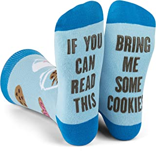 Sponsored Ad - Lavley - If You Can Read This Bring Me Novelty Socks - Funny Dress Socks For Men and Women