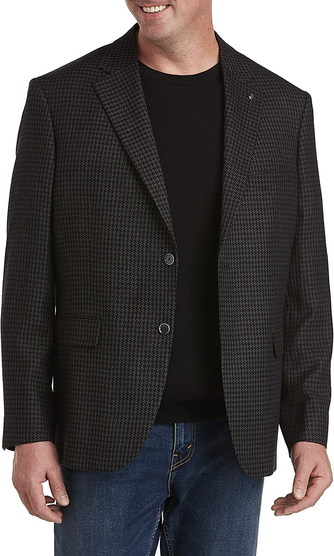 Oak Hill by DXL Big and Tall Jacket-Relaxer Textured Sport Coat-Executive Cut, Grey