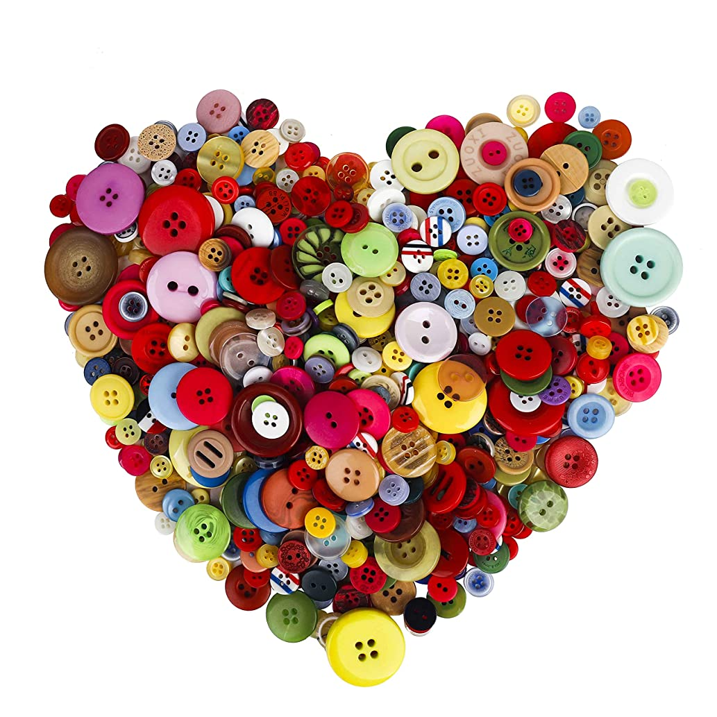 Crafts Buttons Handmade for Kids DIY Decorative Painting 700PCS Assorted Multicolor Round Resin Buttons Bulk for Sewing