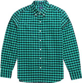 (ジェイクルー)J.Crew メンズ Men's 長袖 シャツ Slim Plaid Oxford Shirt グリーン Celtic Green [並行輸入品]