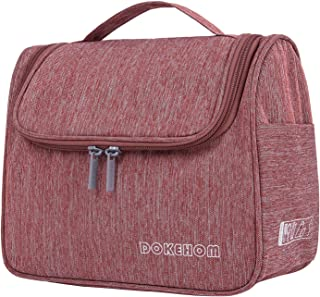 DOKEHOM Hanging Toiletry Organizer Travel Cosmetic Bag, Water Resistant with Mesh Pockets