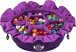 CardKingPro Immense Dice Bags with Pockets - Purple - Capacity 150+ Dice - Great for Dice Hoarders