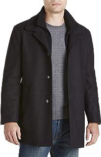 Big and Tall Zale Plaid Overcoat