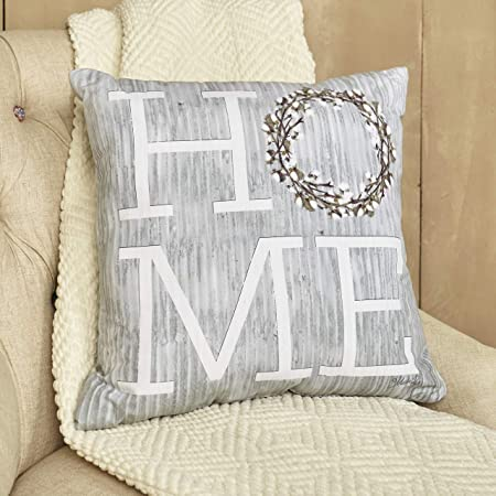Amazon Com The Lakeside Collection Cotton Boll Furniture Accent Pillow Home Farmhouse 17 Throw Cushion Home Kitchen