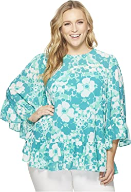 Plus Size Springtime Flare Top