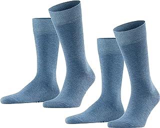 FALKE Happy 2-Pack Herren Socken light denim 6660 43-46 Baumwollstrumpf für jedes Outfit