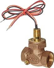 Gems Sensors FS-200 Adjustable Series Bronze Flow Switch, Inline, Shuttle Type, 2.0-8.0 gpm Flow Setting Adjustment Range, 1