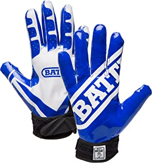 Battle Ultra-Stick Football Gloves – Ultra-Tack Sticky Palm Receivers Gloves –..