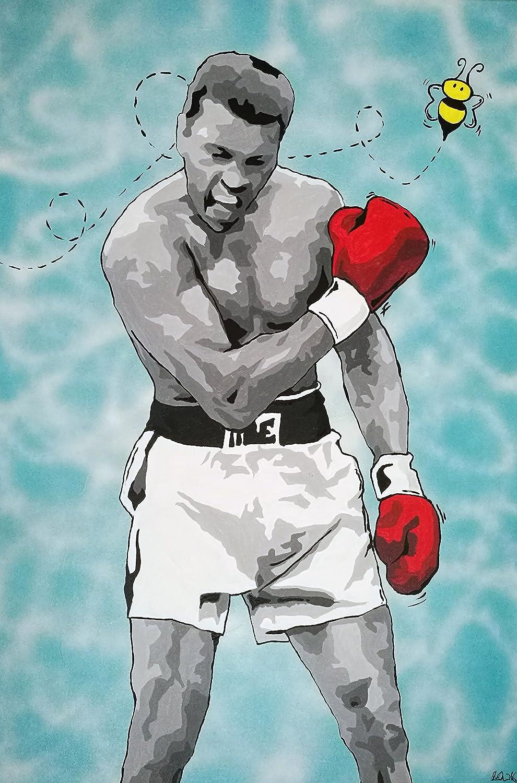 Buyartforless Muhammad Ali-Sting Like a Bee B 18x12 safety Pop by Queen El Paso Mall