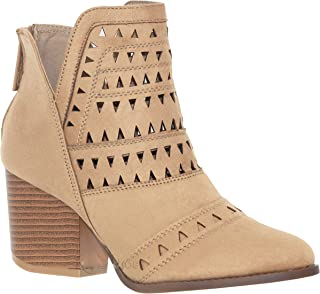 MVE Shoes Stylish Comfortable Cut Out Design Pointed Toe Low Heel Ankle Boot