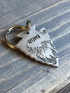 Custom Arrowhead Dog Tag, Hand Stamped Pet ID, Personalized Dog Tag for Dog, Arrowhead Dog Tag