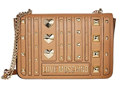 LOVE Moschino Love and More Shoulder Bag (Camel) Handbags