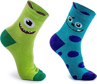 Sonneg, Pack de 2 calcetines fantasía Monstruo para niños de algodón 23-26