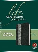 NLT Life Application Study Bible, Second Edition, TuTone (Red Letter, LeatherLike, Black/Vintage Ivory Floral)