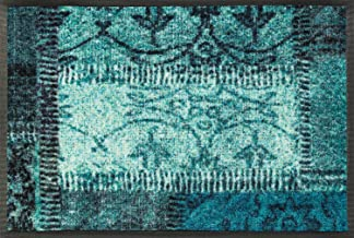 Wash&Dry Doormat, Acrylic, grün, 40 x 60 x 0.7 cm