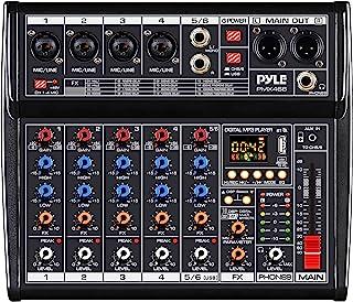 Professional Bluetooth DJ Audio Mixer - 6 - Channel DJ Controller Sound Mixer w/ DSP 16 Preset Effects, USB Interface, 4 X...