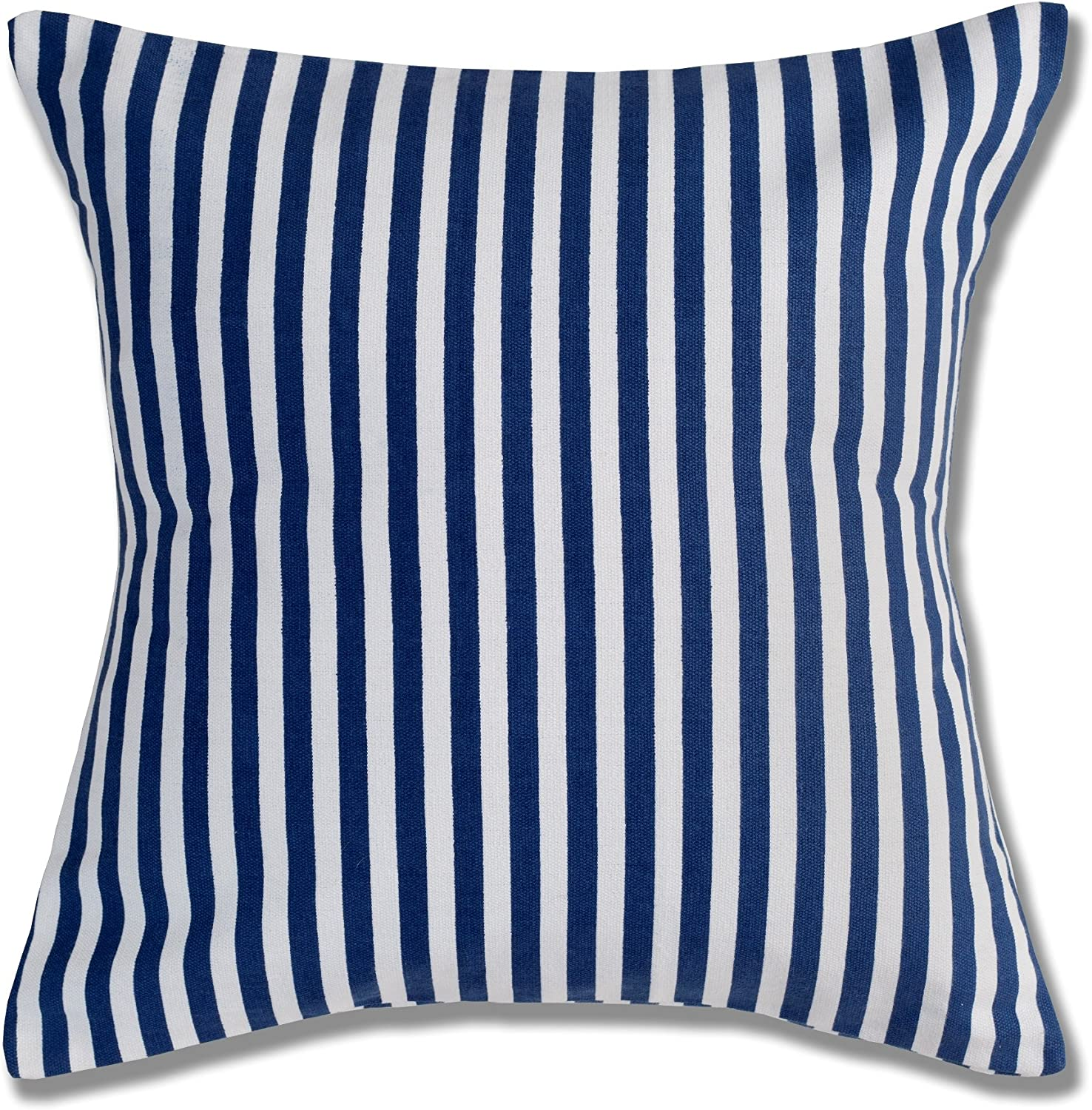 Style Homez Cotton Canvas Stripes Printed Cushion Medium Size Set of 2 Cover Only