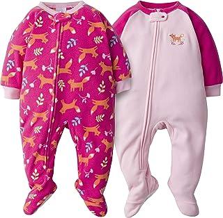 Gerber Baby Girls 2-Pack Blanket Sleeper, Pink Fox, 18 Months