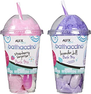 ALEX Toys Spa Bathaccino Bath Bombs & Confetti, 2 Pack, Pink & Purple