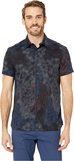 Regular Fit Stretch Splatter Print Shirt