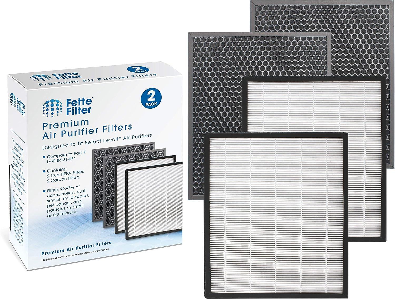 Super Now free shipping intense SALE Fette Filter -LV-PUR131-RF Compatible Set 2 HEPA Fil