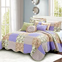 Home Soft Things Patchwork Bedspread Set, 106 x 106, Pink