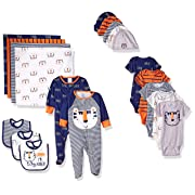 GERBER Baby Boys' 19-Piece Essentials Gift Set, Happy Tiger, Newborn