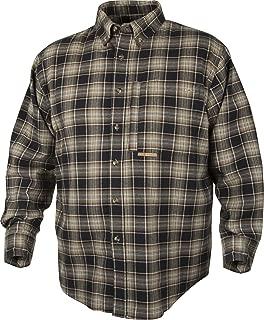 Autumn Brushed Twill Shirt (Navy/Tan, Small)
