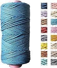 Katoen macramé touw - Macramé koord - Koningsblauw - 3mm dik - 140 meter - 600 gram (Koningsblauw)