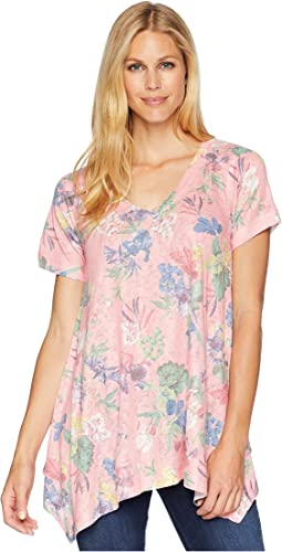 Nally & Millie Pink Floral Sharkbite Tunic