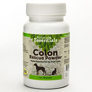 Animal Essentials Colon Rescue Powder Herbal GI Support for Dogs & Cats, 1 fl oz | Phytomucil Blend Supports Normal Bowel ...