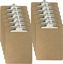 Officemate Letter Size Wood Clipboards, 6 Inch Clip, 12 Pack Clipboard, Brown (83712)