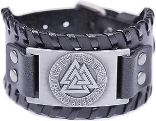 VASSAGO Vintage Wicca Odin's Symbol of Warriors Valknut Viking Runes Charm Belt Buckle Bracelet