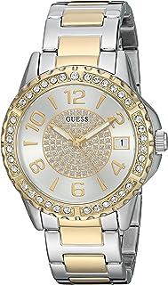 ساعة يد كاجوال من جيس للنساء مصنوعة من الستانلس ستيل ومرصعة بالكريستال