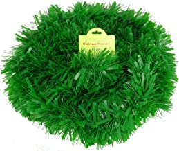 Christmas Concepts® 3m / 9.8ft Chunky/Fine Christmas Tinsel - Christmas Decoration - Tinsel (Matte Green)