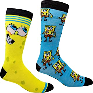 HYP Socks, Bob Esponja SquarePants y todo alrededor de 2 pares de calcetines casuales