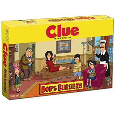 USAOPOLY Clue Bobs Burgers Board Game | Themed Bob Burgers TV Show Clue Game | Officially Licensed Bob's Burgers Game | Solve The Mystery in This Unique Clue take on The Classic Board Game